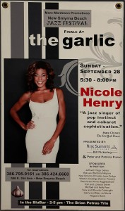 "Nicole Henry poster board w/ gruments  20"" x 36 ""  $ 25"